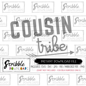 Cousins SVG cousin tribe crew Vinyl Cut File Silhouette Cricut SVG DXF PDF PNG JPG digital download iron on printable DIY shirt craft boy girl kids
