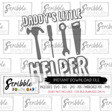 Little boy daddy's little helper SVG cute Vinyl Cut File Cricut Silhouette Digital download Printable iron on transfer graphic clipart easy fast safe secure daddy's little helper tools car mechanic new baby gift dad