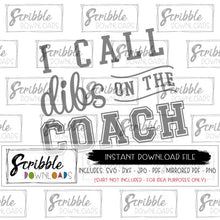 I call dibs on the coach coach wife football basketball funny humor clipart digital download iron on transfer shirt