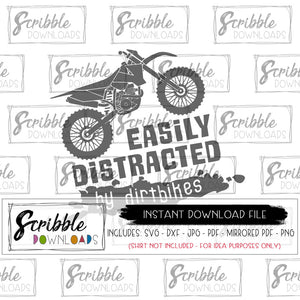 easily distracted by dirtbikes svg cricut silhoutte cut file svg dxf pdf png jpg cameo design space file instant digital download printable iron on transfer DIY craft boys shirt dirtbike motorcycles motorcycle motocross zoom boy kid svg daddy and me matching shirts popular svg dxf