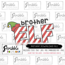 brother elf christmas svg dxf pdf iron on transfer design cut file xmas sibling family cute popular funny