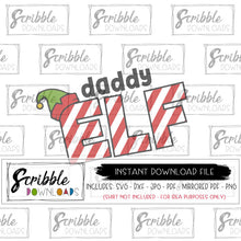 daddy elf svg dxf cut files silhouette cricut digital download instant vector graphic easy svg dxf