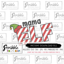 mama elf svg dxf cut file silhouette cricut vinyl cut files cameo design space layers vector graphic scrapbooking cute popular
