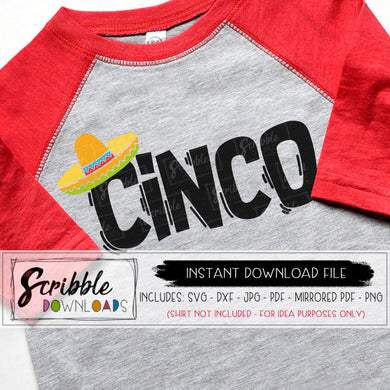 5 mexican fiesta cinco SVG party birthday bday vinyl cut file silhouette cricut design space SVG DXF PDF PNG JPG Digital download printable iron on transfer shirt boy girl cute popular taco sombrero maraca