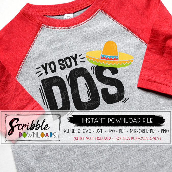 Fiesta Dos SVG 2 two second 2nd birthday party mexican fiesta SVG DXF PDF PNG JPG Cricut Silhouette Vinyl cut file dos sombrero maraca boy girl kids toddler SVG digital download printable iron on transfer shirt free commercial use hand drawn cute popular easy fast secure safe