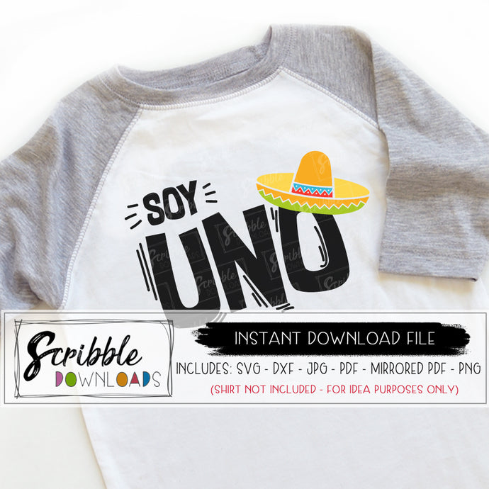 Uno SVG fiesta mexican party SVG DXF PDF PNG JPG Cricut Silhouette vinyl cut file digital download printable iron on transfer shirt DIY craft uno spanish festival carnival party 1 1st one first birthday bash cake smash sombrero cute popular boy girl kids