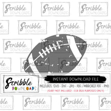 Football Distressed SVG