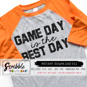 Game Day distressed SVG grunge iron on shirt Game day is the best day svg cut file sports mom svg silhouette cricut cheer football soccer basketball softball sports volleyball