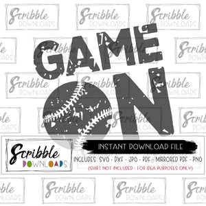 digital download game on sports SVG fan team mom mama cut file vinyl cricut cameo design space silhouette easy cute vintage distressed grunge game team sports baseball softball boy girl kids teen high school logo team shirts DIY printable iron on transfer shirt team mom coach cheer fast safe secure popular best seller free commercial use