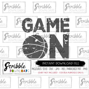 distressed basketball clipart SVG digital download printable iron on shirt DIY craft game on mom cheer team fan player coach logo matching basketball bball hoops cute popular best seller boy girl kids teen high school mascot free commercial use digital download printable game on sports cricut silhouette vinyl cut file