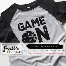 basketball game on SVG DXF vinyl cut file silhouette cricut distressed grunge antique style team coach player high school teen boy girl kids mom bball game day sports hoops slam dunk dribble free commercial printable iron on transfer shirt digital download DIY craft fast last minute gift easy secure safe