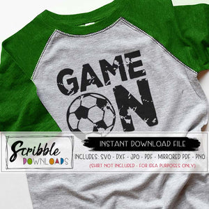 game on distressed soccer svg dxf pdf iron on shirt soccer mom player sports shirt silhouette cricut cut file vinyl sublimation vector graphic game day cute popular distressed boy girl teen mom mama coach fan