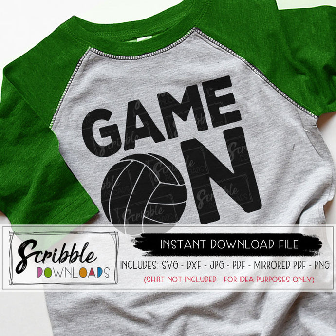 volleyball game on SVG digital download printable iron on shirt DIY craft volley ball SVG DXF PDF PNG JPG Mirrored PDF vinyl cut file silhouette cricut easy fast safe secure free commercial use digital print team sports captain mom mama coach logo high school kids boy girl kids teen matching shirts popular best seller