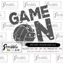 volleyball SVG Game Day svg Game On mens womens dxf svg Cricut Silhouette Cut File sports distressed grunge mom cheer iron on shirt popular best seller cute logo team sports coach mom mama fan volley volleyball digital download