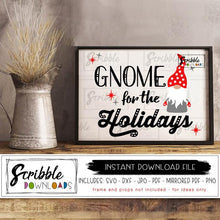 gnome for the holidays svg Digital download vinyl cut file SVG DXF PDF PNG JPG Mirrored PDF printable iron on print artwork frame christmas holiday holidays cute popular best seller fast gift tag stationary card clipart vector graphic gnome elf garden nordic elf elves SVG cute stars red plaid