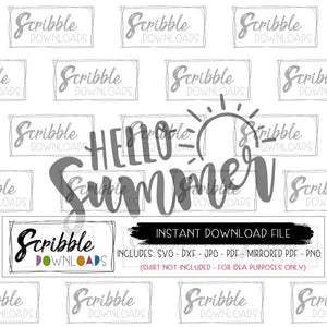 Summer SVG DXF PDF PNG JPG Cricut Silhouette Printable iron on transfer summer lovin' clipart graphic sun sunshine schools out hand drawn girl girls teen mom sublimation art PDF printable iron on transfer fast last minute