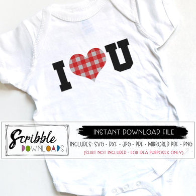 I love you SVG DXF PDF PNG JPG buffalo plaid heart cute easy separation for vinyl cutting cricut silhouette cameo cuts a lot design space program free limited commercial use. Trendy popular boy girl kids baby valentine gift digital download instant email file safe easy paypal