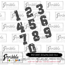 Distressed Sports Numbers SVG