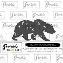 instant digital download bear animal graphic vector easy to use iron on transfer mirrored PDF christmas shirt matching