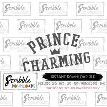 Boys Valentine prince charming SVG DXF PDF PNG JPG clipart Iron on transfer DIY print at home for easy last minute shirt or bodysuit for baby boy popular cute funny kids