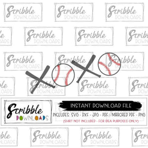 baseball xoxo lover boys valentines iron on graphic vector scrapbooking svg dxf pdf jpg png digital download instant kids cute popular