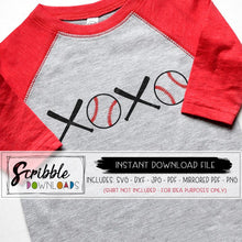 baseball love xoxo svg dxf pdf cut file for silhouette and cricut design space vinyl heat transfer vinyl also use for iron on transfer printable mirrored PDF easy cute kids mom boy girl cheer valentines