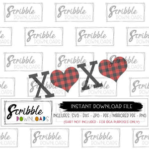 valentine SVG buffalo plaid red black cute cut file cricut silhouette cuts a lot PDF sublimation DIY digital download iron on transfer clipart cute easy popular xoxo kids