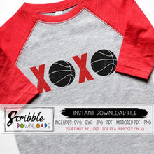 basketball xoxo clipart vector graphic svg dxf pdf png jpg cricut silhouette cut file iron on transfer boys sports valentines cheer mom basketball mama mirrored PDF popular cute easy DIY shirt