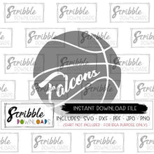 Basketball falcons svg mascot svg hoops svg Printable Iron On shirt Sports svg pdf digital high school basketball svg cheer vinyl cut file silhouette cricut craft bball team SVG DXF PDF PNG JPG Vector clipart easy fast secure safe team sports mom mama Falcons Team Falcon cheer popular best seller