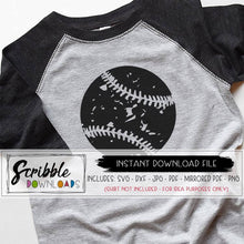 baseball DISTRESSED SVG CUT FILE GRAPHIC VECTOR HIGH QUALITY