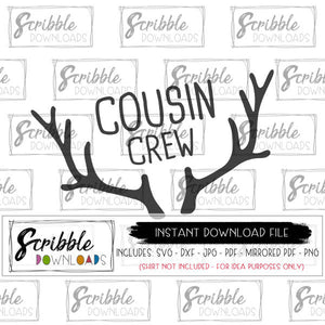 cousin crew svg dxf winter graphic vector file to make your own matching shirts for cousins