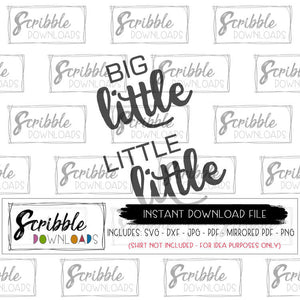 big little little little brother sister new baby sibling vinyl cut file shirt