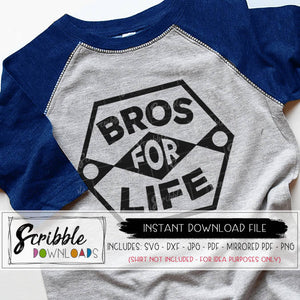 BROS FOR LIFE SVG BROTHERS BROS BEFORE BOWS CUT FILE DXF GRAPHIC silhouette cricut design space cameo software vector iron on shirt printable