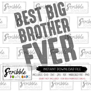 BIG BROTHER SVG DXF CUT FILE SILHOUETTE CRICUT APPLICATIONS