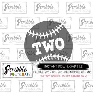 baseball two vector graphic clipart iron on digital download instant printable print scrapbook iron on transfer easy DIY sublimation graphic two 2 second cute popular party shirt best seller scribble downloads digital download 2 2nd second two SVG DXF PDF PNG JPG MIRRORED PDF printable iron on shirt DIY craft