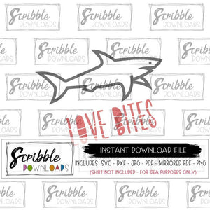 Love bites SVG funny boys valentine clipart shark easy to use free commercial use sublimation kids SVG DXF PDF PNG JPG fun cut file cricut silhouette brother cuts a lot easy digital download