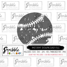 GRUNGE BASEBALL SOFTBALL ANTIQUE LOOKING SVG DXF CUT FILE
