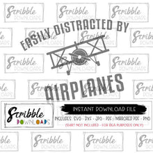 DISTRACTED BY PLANES SVG DXF CUT FILE VECTOR GRAPHIC Cricut Silhouette SVG cut graphic easy digital download free commercial use plane airplane planes pilot kids boy cute popular clipart