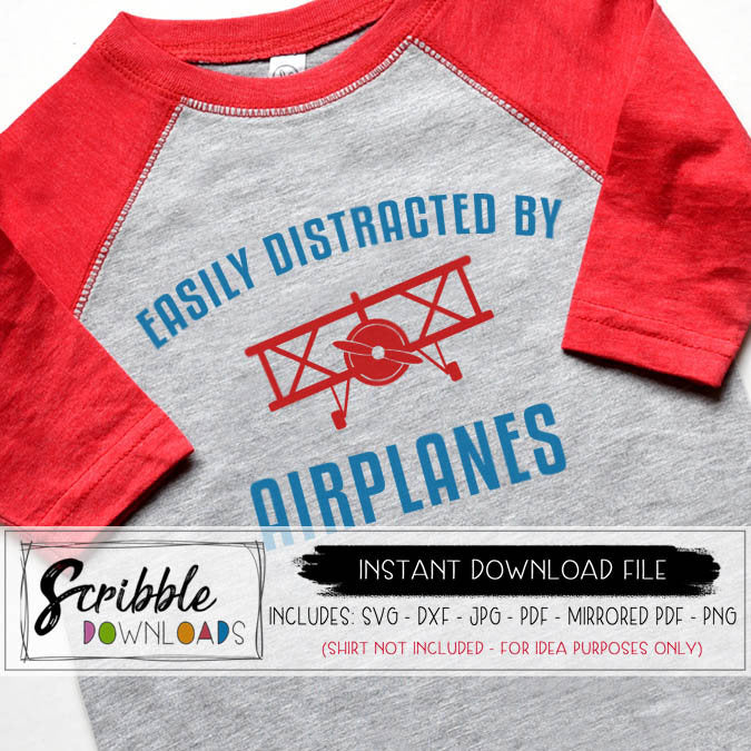 airplane svg easily distracted by airplanes plane sky pilot flying graphic cricut silhouette