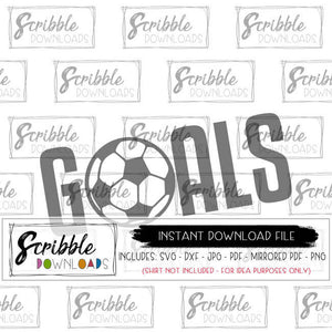 soccer goals svg dxf cut file silhouette cricut vinyl cut file cute popular sports shirt iron on shirt do it yourself print at home instant digital download cheap free