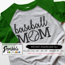 BASEBALL MOM BALL SPORTS MOM SVG GRAPHIC VECTOR CRICUT SILHOUETTE sports fun momlife graphic iron on transfer shirt DIY