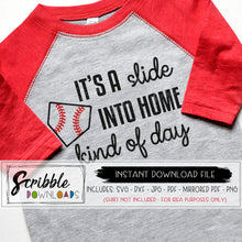 BASEBALL SOFTBALL SLIDE INTO HOME KIND OF DAY SVG GRAPHIC CRICUT SILHOUETTE VINYL SHIRT HTV SVG DXF PDF graphic popular cute boy girl mom mama vector easy commercial use free sports baseball school mom player coach gift easy fast printable iron on transfer DIY shirt