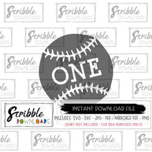 1 one baseball SVG DXF PDF Cricut Silhouette Cut file graphic craft heat transfer vinyl PDF iron on transfer clipart printable digital download instant email 1 one 1st first birthday bday baby kids cute popular