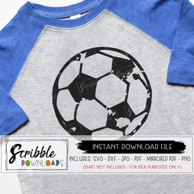 Soccer SVG distressed Soccer Ball Svg grunge old Game Day dxf svg Cricut Silhouette Cut File sports distressed grunge soccer iron on futbol digital download free commercial use cute popular logo team sports