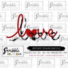 love buffalo plaid hand drawn SVG DXF cut file cricut silhouette cuts a lot cameo digital download free limited commercial use buffalo plaid red trendy kids last minute valentine clothes fast instant download free commercial use