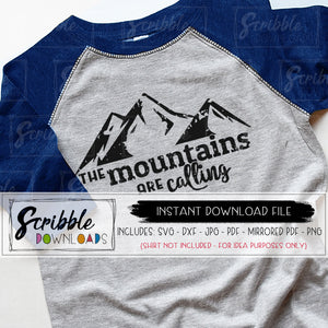 mountains are calling SVG digital download Vinyl cut file silhouette cricut distressed grunge cool antique mountain outdoor explore camp hike DIY printable iron on shirt summer clipart vector popular trendy logo camp mtn mtns hiker boy girl kids teen adult free commercial use