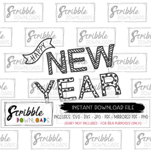 Digital Download New Year 2019 SVG DXF PDF PNG JPG Cricut Silhouette cut file Heat Transfer Vinyl New Year 2019 2020 2021 2022 free commercial use boy girl kids