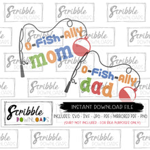 fishing mom dad SVG o-fish-ally ofishally o fish ally mama daddy bundle SVG DXF PDF PNG JPG Vinyl Cut file Silhouette Cricut digital download printable iron on transfer clipart DIY shirt craft matching coordinating baby mom dad mama daddy cute popular party bday birthday 1 2 3 4 5 6