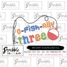 fish party 3 SVG digital download SVG DXF PDF PNG JPG o-fish-ally ofishally 3 three third 3rd bday birthday 3 year old SVG DXF cricut Silhouette vinyl cut file printable iron on transfer shirt free commercial use fast easy last minute gift