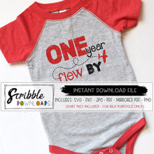 one year flew by svg one 1 first 1st birthday iron on digital download silhouette cricut cut file DIY printable birthday bash shirt pilot airplane plane sky flying theme cute popular clipart sublimation